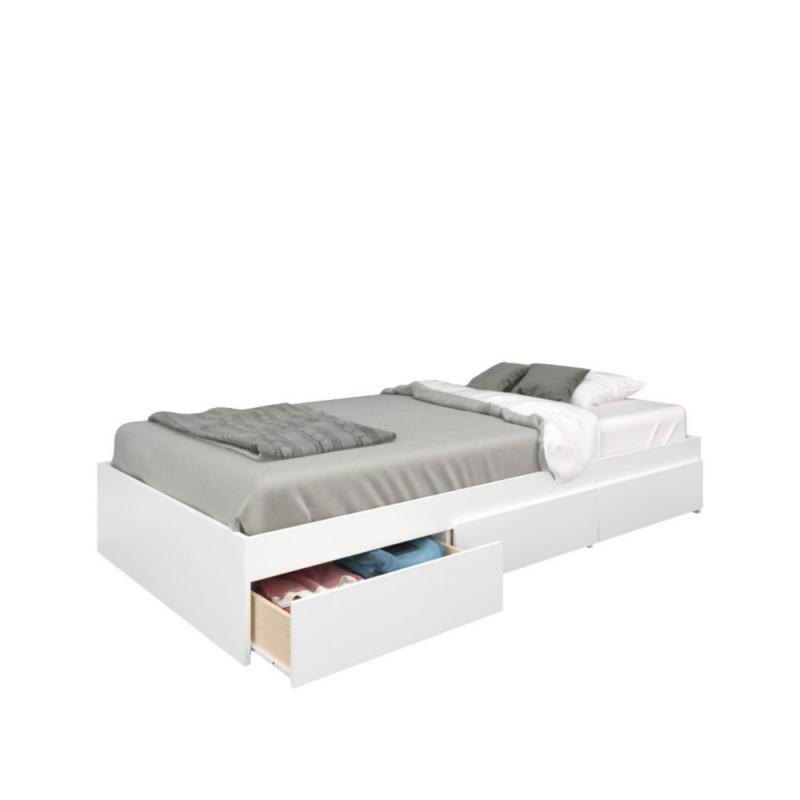 Nexera Blvd Twin Size 3-Drawer Storage Bed