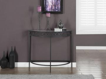 "Monarch Charcoal Grey Metal 36""L Hall Console Accent Table"