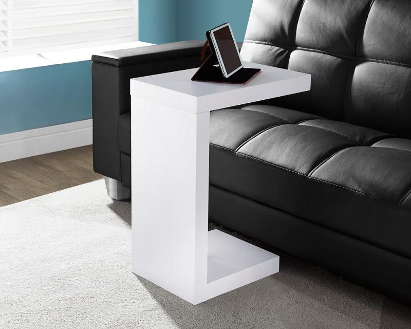 Monarch White Hollow-Core Accent Table
