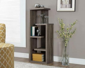 "Monarch Dark Taupe Reclaimed-Look 48""H Accent Display Unit"