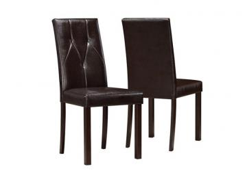 "Monarch Dark Brown Leather-Look 38""H Dining Chair / 2Pcs Per Ctn"