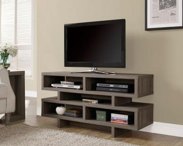 "Monarch Dark Taupe Reclaimed-Look Hollow-Core 48""L Tv Console"