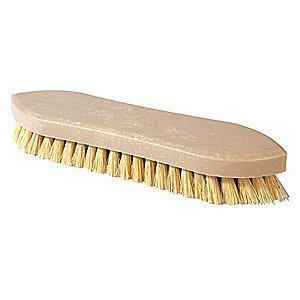 "Ability One 10-3/4""L Polypropylene Block Scrub Brush, Natural"
