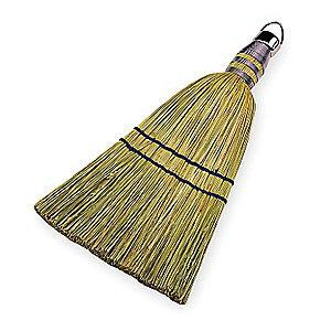 Ability One Corn Fiber Whisk Broom, Length 10""