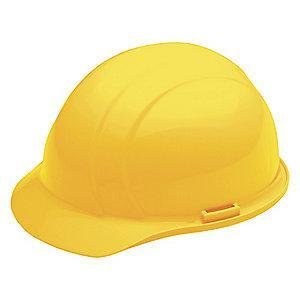 Ability One Front Brim Hard Hat, 4 pt. Pinlock Suspension, Yellow, Hat Size: One Size Fits Most