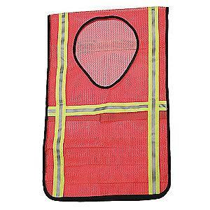 Ability One Orange/Red with Silver Stripe High Visibility Vest, Hook-and-Loop Closure, Universal