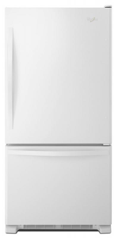 Whirlpool 18.7 cu. ft. Refrigerator with Bottom Mount Freezer in White