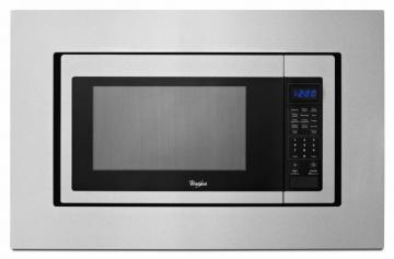 Whirlpool 1.6 cu. ft. Countertop Microwave Oven with Optional Built-In Trim Kit in Stainless Steel