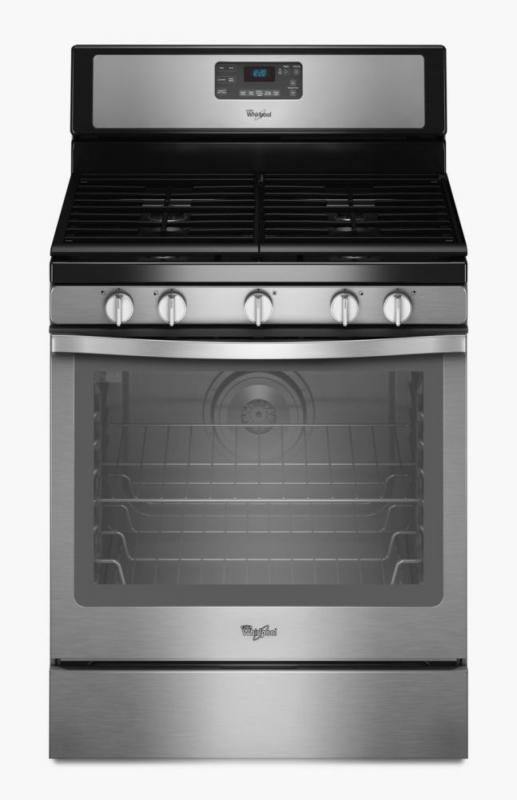 Whirlpool 5.8 cu. ft. Free-Standing Gas Range with Centre Burner in Stainless Steel
