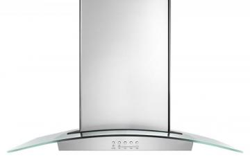 Whirlpool 36-inch Island Range Hood with Glass Edge LED Lighting