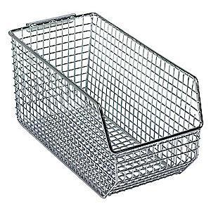 "Quantum Hang and Stack Bin, Chrome, 10-3/4"" Outside Length, 5-1/2"" Outside Width, 5"" Outside Height"