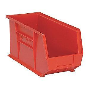 "Quantum Hang and Stack Bin, Red, 18"" Outside Length, 8-1/4"" Outside Width, 9"" Outside Height"