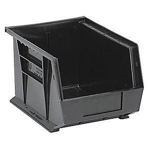 "Quantum Hang and Stack Bin, Black, 10-3/4"" Outside Length, 8-1/4"" Outside Width, 7"" Outside Height"