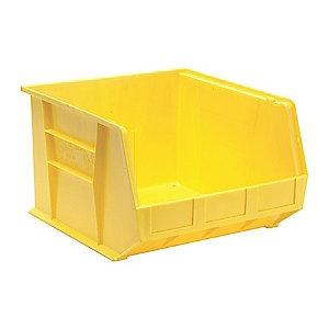"Quantum Hang and Stack Bin, Yellow, 18"" Outside Length, 16-1/2"" Outside Width, 11"" Outside Height"