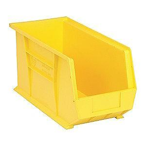 "Quantum Hang and Stack Bin, Yellow, 18"" Outside Length, 8-1/4"" Outside Width, 9"" Outside Height"