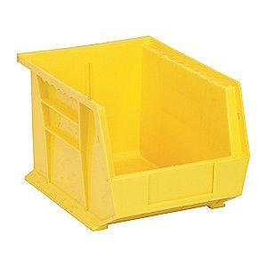"Quantum Hang and Stack Bin, Yellow, 10-3/4"" Outside Length, 8-1/4"" Outside Width, 7"" Outside Height"