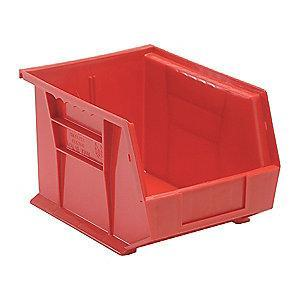 "Quantum Hang and Stack Bin, Red, 10-3/4"" Outside Length, 8-1/4"" Outside Width, 7"" Outside Height"