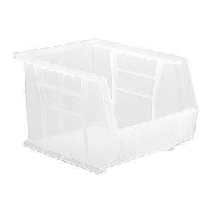 "Quantum Hang and Stack Bin, Clear, 10-3/4"" Outside Length, 8-1/4"" Outside Width, 7"" Outside Height"