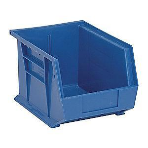 "Quantum Hang and Stack Bin, Blue, 10-3/4"" Outside Length, 8-1/4"" Outside Width, 7"" Outside Height"