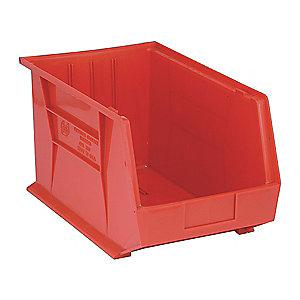 "Quantum Hang and Stack Bin, Red, 18"" Outside Length, 11"" Outside Width, 10"" Outside Height"