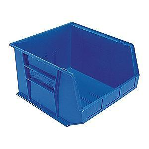 "Quantum Hang and Stack Bin, Blue, 18"" Outside Length, 16-1/2"" Outside Width, 11"" Outside Height"