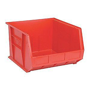 "Quantum Hang and Stack Bin, Red, 18"" Outside Length, 16-1/2"" Outside Width, 11"" Outside Height"