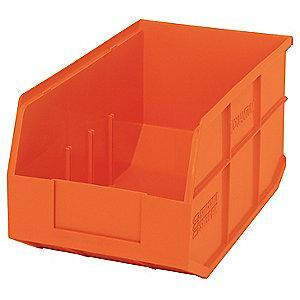 "Quantum Shelf Bin, Orange, 7""H x 14""L x 8-1/4""W, 1EA"