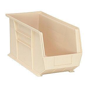 "Quantum Hang and Stack Bin, Ivory, 18"" Outside Length, 8-1/4"" Outside Width, 9"" Outside Height"