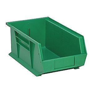 "Quantum Hang and Stack Bin, Green, 13-5/8"" Outside Length, 8-1/4"" Outside Width, 6"" Outside Height"