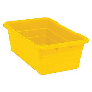 "Quantum Cross Stacking Tote, Yellow, 8-1/2""H x 25-1/8""L x 16""W, 1EA"