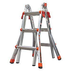 Little Aluminum Multipurpose Ladder, 11 ft. Extended Ladder Height, 300 lb. Load Capacity