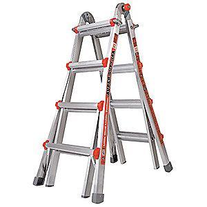 Little Aluminum Multipurpose Ladder, 15 ft. Extended Ladder Height, 375 lb. Load Capacity