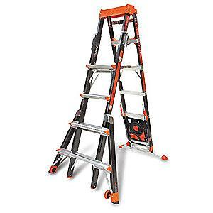 Little 6 to 10 ft. 375 lb. Load Capacity Fiberglass Adjustable Stepladder