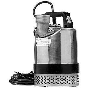 "Little 1/2 Pump HP Dewatering/Utility Pumpwith 120VAC Voltage and Discharge NPT  2"", 20 ft. Cord"
