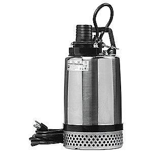 "Little 1 Pump HP Dewatering/Utility Pumpwith 120VAC Voltage and Discharge NPT  2"", 20 ft. Cord"