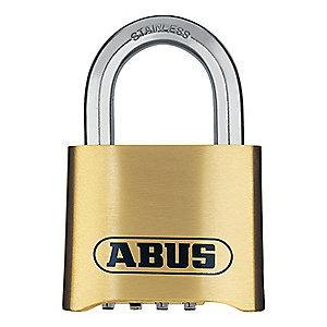 "Abus Combination Padlock, Resettable Bottom-Dial Location, 1"" Shackle Height"