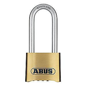 "Abus Combination Padlock, Resettable Bottom-Dial Location, 2-1/2"" Shackle Height"