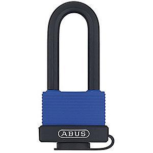 "Abus Different, Master-Keyed Padlock, Open Shackle Type, 2-1/2"" Shackle Height, Blue"