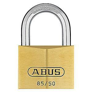 "Abus Different, Master-Keyed Padlock, Open Shackle Type, 1-1/8"" Shackle Height, Brass"