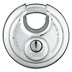 "Abus Alike-Keyed Padlock, Shrouded Shackle Type, 5/8"" Shackle Height, Silver"