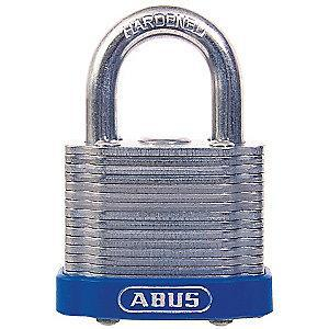 "Abus Different, Master-Keyed Padlock, Open Shackle Type, 1-7/8"" Shackle Height, Blue"