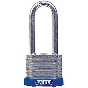 "Abus Different, Master-Keyed Padlock, Open Shackle Type, 2"" Shackle Height, Blue"