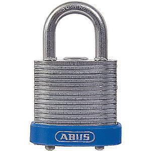 "Abus Different, Master-Keyed Padlock, Open Shackle Type, 5/8"" Shackle Height, Blue"
