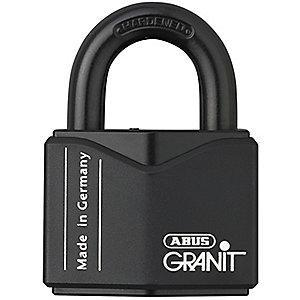 "Abus Different, Master-Keyed Padlock, Open Shackle Type, 1"" Shackle Height, Black"