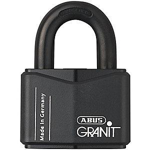 "Abus Different, Master-Keyed Padlock, Open Shackle Type, 1-5/16"" Shackle Height, Black"