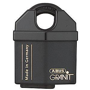 "Abus Different, Master-Keyed Padlock, Open Shackle Type, 5/8"" Shackle Height, Black"