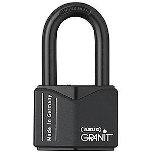 "Abus Different, Master-Keyed Padlock, Open Shackle Type, 2"" Shackle Height, Black"