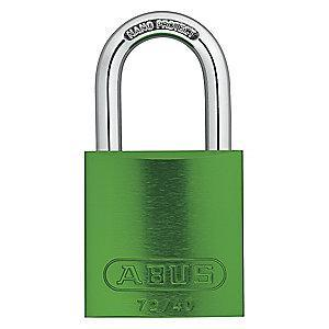 Abus Green Lockout Padlock, Different Key Type, Master Keyed: No, Aluminum Body Material
