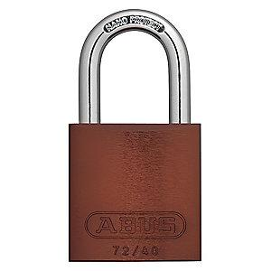 Abus Brown Lockout Padlock, Different Key Type, Master Keyed: Yes, Aluminum Body Material