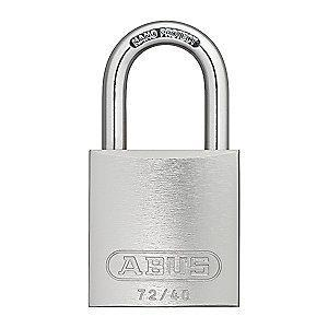 Abus Silver Lockout Padlock, Different Key Type, Master Keyed: No, Aluminum Body Material
